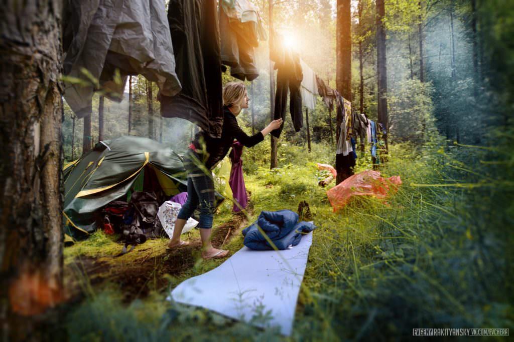 """В лагере после сезона дождей. Поляна """"Взлетная"""", Байкальский проект-2015, смена 1, 16 июля"""