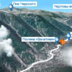 Карта Байкальского проекта - 2015. Место строительства: поляна Взлетная, Чайный путь