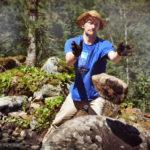 Александр Тимофеев (Екатеринбург) работает на камнях