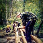 Строительство моста через р.Ангасолку, 2002. Фото из архива.