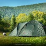 Кошка Няша дежурит у палатки