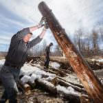 Расчистка реки Харлахта, г.Байкальск.