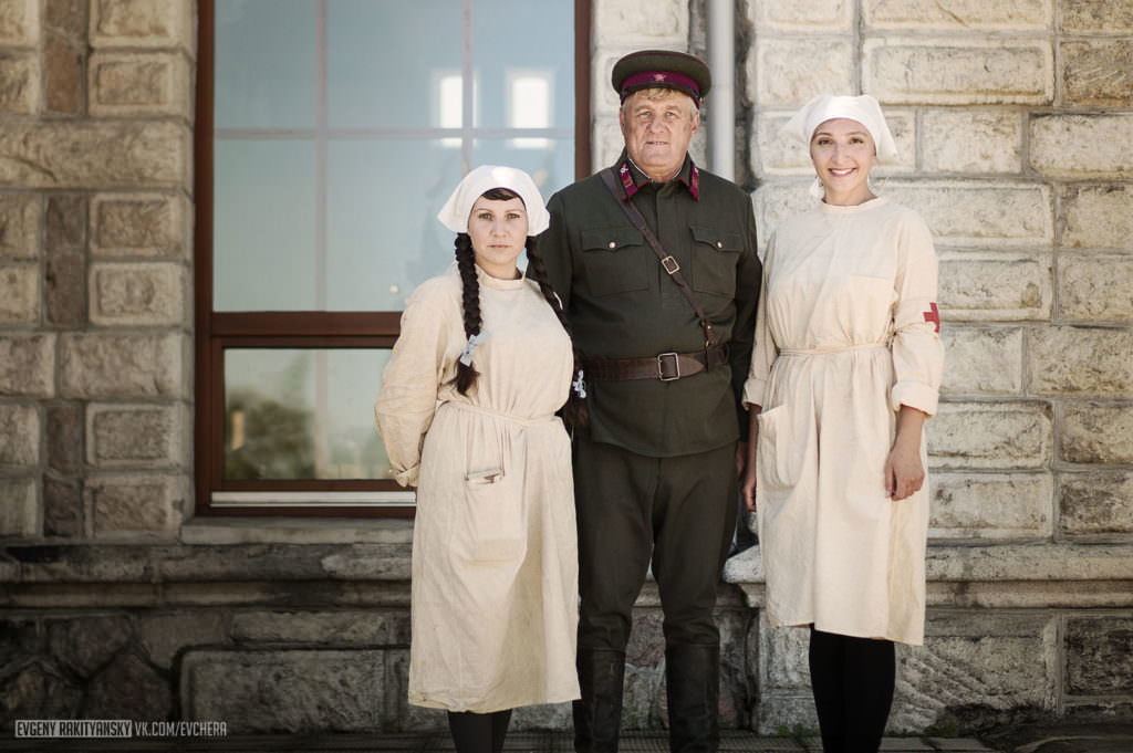 Владимир Сендзяк, глава г.Слюдянки на съемках фильма «321-ая Сибирская»
