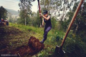Снятие дерна. Волонтерский проект на Байкале.